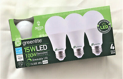 New 8 Light Bulbs 15W LED 100W Equivalent Dimmable Super Long Life 1600 Lumens