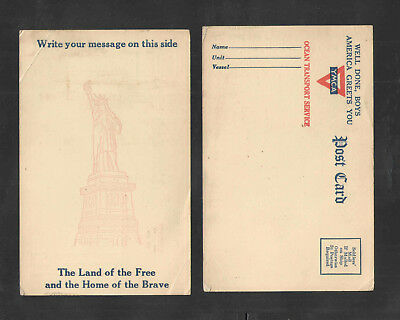 Us Ww Ii Ymca { Well Done Boys America Greets You } Statue Of Liberty Postcard