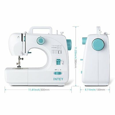 INTEY Electric Sewing Machine 16 Stitches Double Thread Household Multifunction