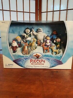 Round 2 Rudolph the Red-Nosed Reindeer Figurine Collection Set of 12