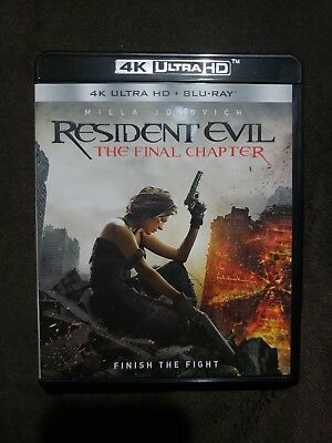 Resident Evil: The Final Chapter (4K Ultra HD Blu-ray, 2017)