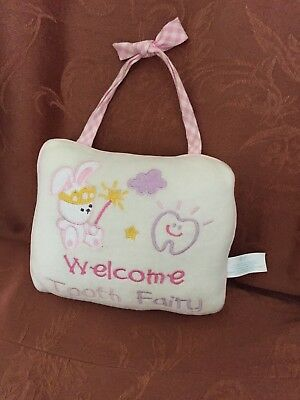 """""""Welcome Tooth Fairy"""" Door Hanger Pillow w/Pouch for Tooth by Russ Berrie"""