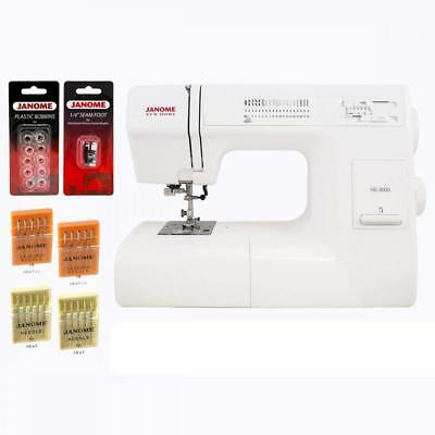 Janome HD3000 Heavy Duty Mechanical Sewing Machine With Bonus Accessories...