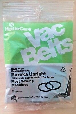 Home Care Vac Belts Eureka Upright Style 1100 NEW OLD STOCK