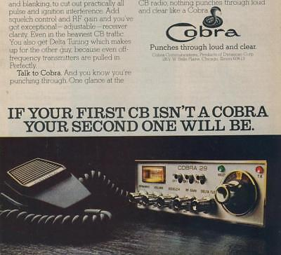 Vintage 1970S Am Cb Radio Cobra 29 Citizens Band Receiver Advert Ready To Fram