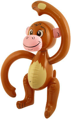Inflatable Monkey Blow Up Stag Kids Party Animal Chimp Ape Jungle Tropical 58cm