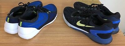 Lot 2 Nike Free 3.0 & Nike Lunarglide 6 Mens Trainers - Running Shoes Sz US 11.5