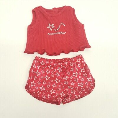 American Girl Place  Doll Souvenir Red Pajamas  (A18-23)
