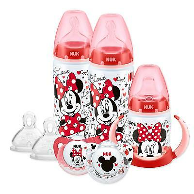 NUK Mickey and Minnie Baby Feeding Starter Set Bottles Cup Soother New