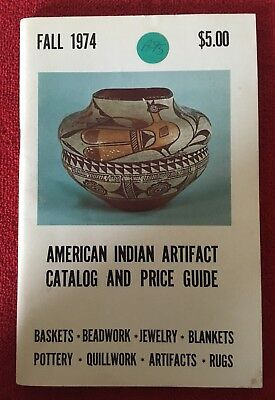 Native American Indian Artifact Catalog & Price Guide 1974 Book Booklet