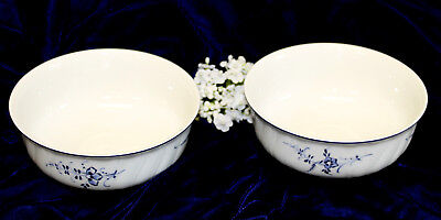 """Villeroy and Boch Vieux Luxembourg SET OF 2 CEREAL BOWLS 5"""" No Center Decoration"""
