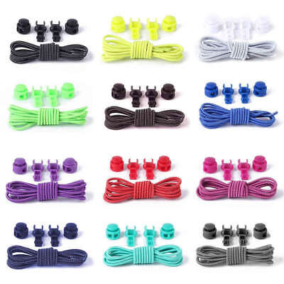 UK No Tie Elastic Lock Lace System Lock Shoe Laces Shoelaces Runners Kids Adults