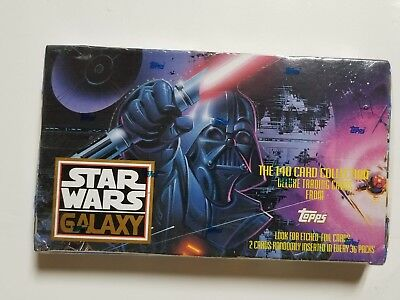 1993 Topps Star Wars Galaxy Unopened Trading Card 36 Pack Box!