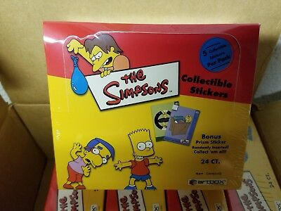 2000 Artbox The Simpsons Unopened Collectible Sticker Trading Card Pack Box