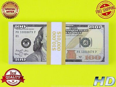 PROP MONEY 100 x 100s New Blue Style - Play Money Fake Prop Bills Movie Money