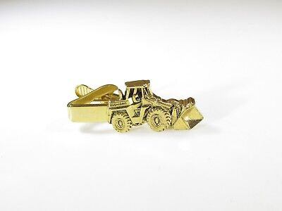 Gold Tone Tie Clip with Michigan Front Loader Tractor by Mercury Industries