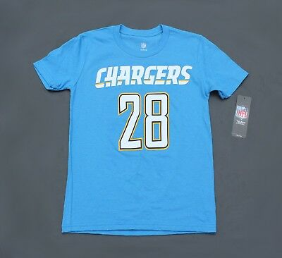 save off 71633 be832 MELVIN GORDON LA Chargers Jersey T Shirt Powder Blue Youth (New)