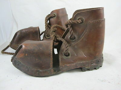 Original Weighted Shallow Water Divers Boots Marked On Base Sj C1939 -1945