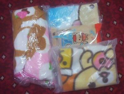 Rilakkuma Bear  Blanket Lot san-x