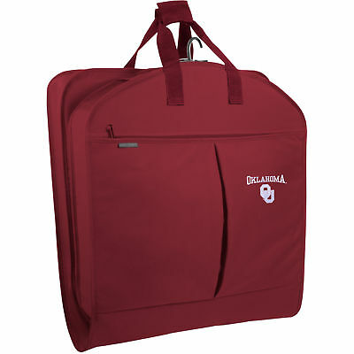 WallyBags Oklahoma Sooners 40-inch Garment Bag With Pockets
