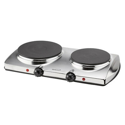 Brentwood TS-372 Electric 1440-watt Stainless Steel Double-burner Hot Plate