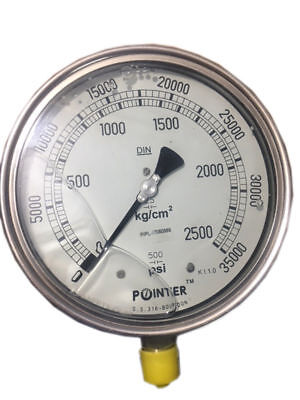 High Pressure Gauge Dual Scale 0-2500 BAR /0-35000 PSI Ideal for Common Rail New