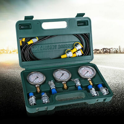 1 pc/set Hydraulic Pressure Test Kit with Testing Hose Coupling and Gauge