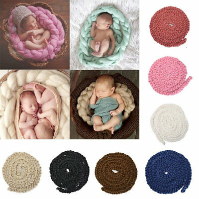 Newborn Photography Props Photo Blanket Cute Baby Posing Knitting Wool Blanket