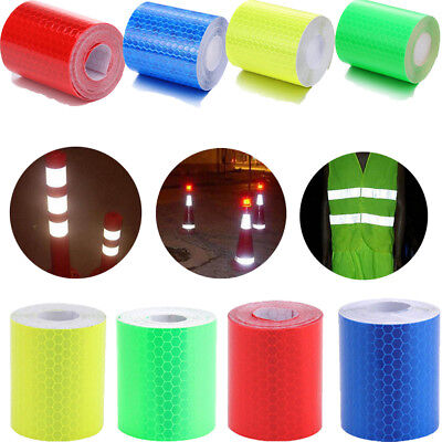 Car Truck Reflective 3m Safety Warning Conspicuity Roll Tape Film Sticker Decal