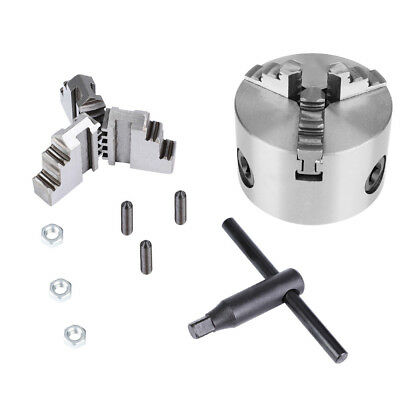 K11-80 Self-Centering 3-Jaw Lathe Chuck With Extra Jaws Machine Accessories