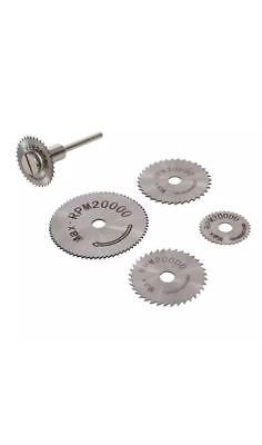 6pc Mini HSS Circular Saw Disc Blades For Dremel Rotary Tool Hobby Drills