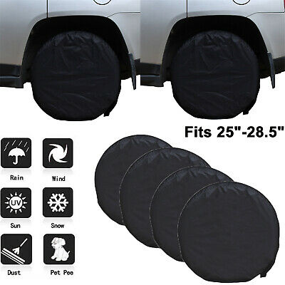 4 Pieces Heavy Duty RV Car Wheel Tire Covers for Truck Trailer Camper Motorhome