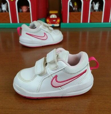 the best attitude 56086 cd890 Nike Pico 4 (Tdv) Toddler Shoes Double Strap White Prism Pink Spark Size 5C