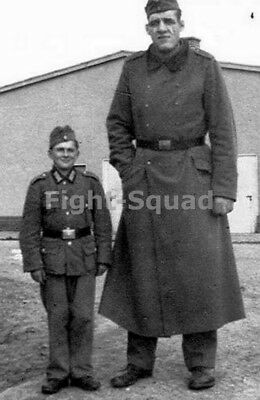 WW2 Picture Photo German Soldiers Small and Large shortest and tallest 1577