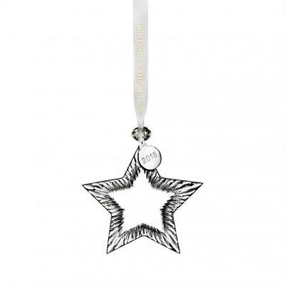 Waterford 2018 Clear Crystal Star Ornament Brand New in Box