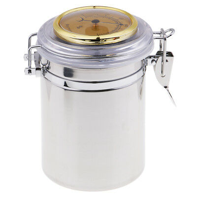 Stainless Steel Tobacco Tin Can Humidor Humidifier Tobacco Canister Box Cans