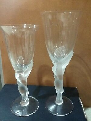 Faberge Kissing Dove Crystal, Lot 12 Wine Glasses, 12 Goblets, NIB, Discontinued