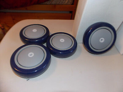 5 Inch Diameter x 1-1/4 Inch Wide, Rubber  Wheels 250 Lb. Capacity. Set Of  4