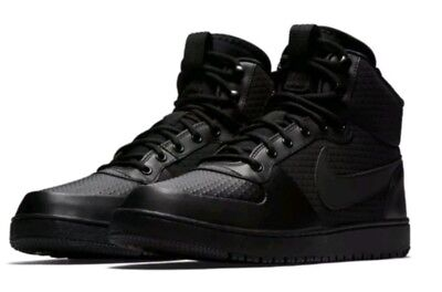 quality design 2bdca e6d51 Nike Court Borough Mid Water Winter Outdoor Black AA0547 002 Men s Shoes  Size 8