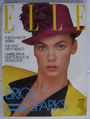 vintage 1980s ELLE magazine May 1988 Juliette Binoche fashion beauty