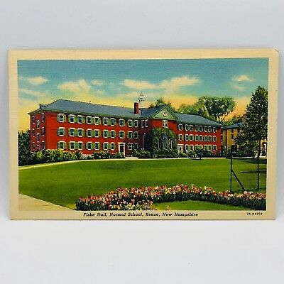 Postcard Vintage New Hampshire 1941 Fiske Hall Normal School Keene 1000-22