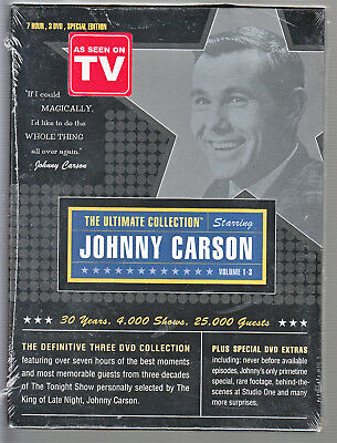 Johnny Carson: The Ultimate Collection (DVD, 2003, 3-Disc Set) FACTORY SEALED