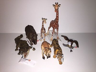 Schleich Wild Animals LOT Of 7 NEW WITH TAGS No Duplicates!
