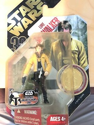 New Hasbro Star Wars Luke Skywalker With Exclusive Collector Coin Action Figure