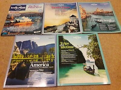 Lonely planet magazine job lot collection x 5 issues 37 39 40 41 42 2012