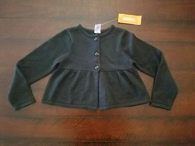 NWT Gymboree Black Sparkle Fall Button Up Sweater Size 4T