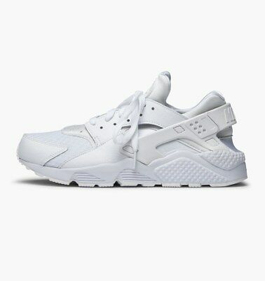 New Men's NIKE Air Huarache Running Sneaker  White Pure Platinum 318429 111