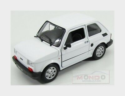 Fiat 126 1972 White Welly 1:24 WE24066W