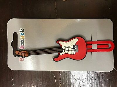 Red Guitar Bookmark, Music, Band, Gift, Brand New