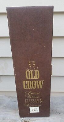 Vintage Limited Edition Old Crow Ceramic Chessman Decanter Light Queen